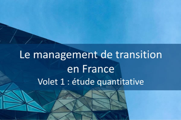 Etude Xerfi - management de transition